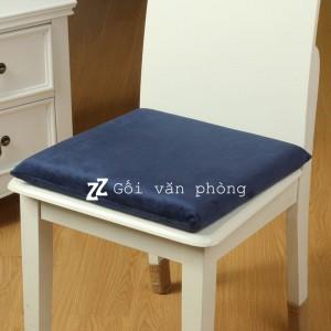 Gối lót ghế phẳng vuông vỏ nhung GLM-03