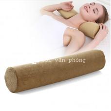 Gối thanh tròn kê cổ nằm ngủ hỗ trợ vai gáy GLN-05